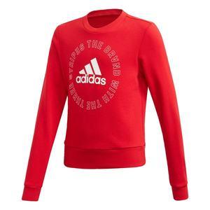 ADIDAS PERFORMANCE Športová mikina 'Bold' červená / biela vyobraziť