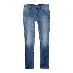 Modré skinny džínsy s nitmi - S vyobraziť