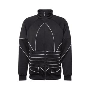 ADIDAS ORIGINALS Tepláková bunda 'Trefoil' biela / čierna vyobraziť