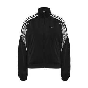 ADIDAS ORIGINALS Tepláková bunda čierna / biela vyobraziť