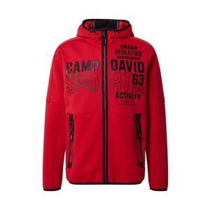 CAMP DAVID Tepláková bunda krvavo červená / čierna vyobraziť