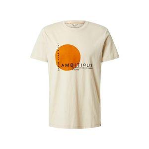 BLEND Tričko 'Tee Ambitious' biela / oranžová / čierna vyobraziť