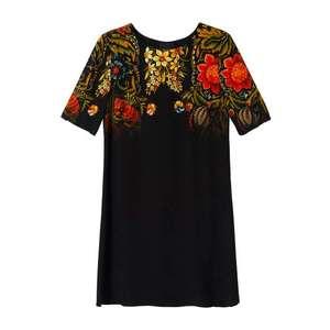 Desigual Šaty 'Vest Butterflower' čierna / zmiešané farby vyobraziť