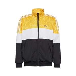 ADIDAS ORIGINALS Tepláková bunda biela / čierna / žltá vyobraziť