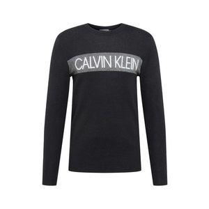 Calvin Klein Mikina biela / čierna / sivá vyobraziť