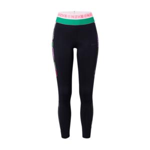 NIKE Športové nohavice biela / čierna / zelená / ružová vyobraziť