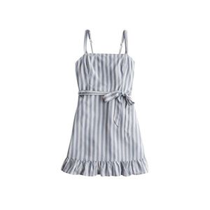 HOLLISTER Letné šaty biela / svetlomodrá vyobraziť