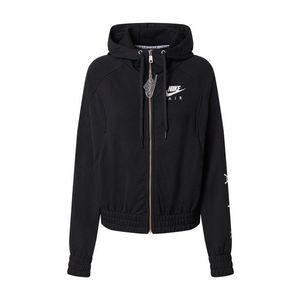 Nike Sportswear Tepláková bunda biela / čierna vyobraziť