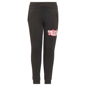 ADIDAS PERFORMANCE Športové nohavice čierna / červená / biela vyobraziť