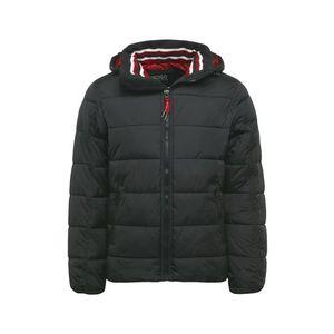 INDICODE JEANS Prechodná bunda 'Juan Diego' čierna / červená / biela vyobraziť