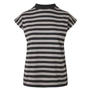 Urban Classics Curvy Tričko sivá / čierna vyobraziť