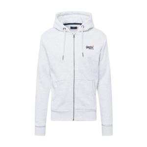 Superdry Tepláková bunda námornícka modrá / biela vyobraziť