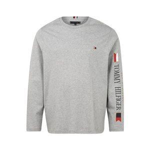 TOMMY HILFIGER Tričko červená / sivá / biela vyobraziť
