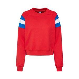 Urban Classics Mikina biela / modrá / červená vyobraziť
