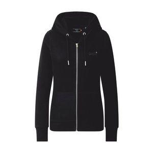 Superdry Tepláková bunda čierna vyobraziť
