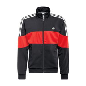 ADIDAS ORIGINALS Tepláková bunda čierna / biela / svetločervená vyobraziť
