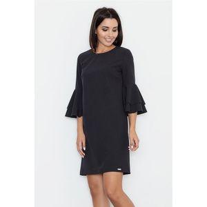 Čierne šaty M564 vyobraziť