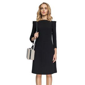Čierne šaty S082 vyobraziť