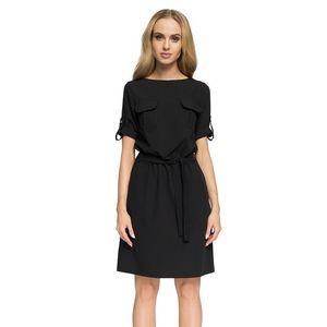 Čierne šaty S029 vyobraziť