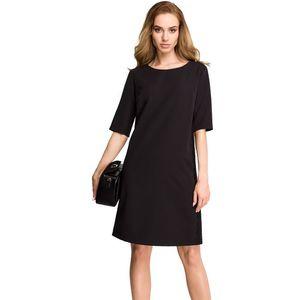 Čierne šaty S107 vyobraziť