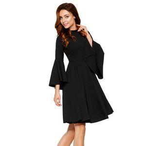 Čierne šaty L277 vyobraziť