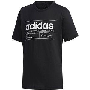 Čierne detské tričko Adidas vyobraziť