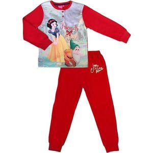 červené dievčenské pyžamo snehulienka vyobraziť