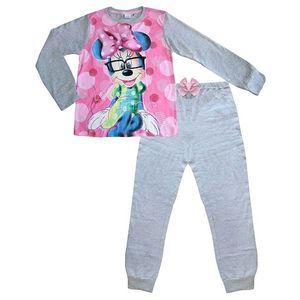 Dievčenské sivé dlhé pyžamo s minnie vyobraziť