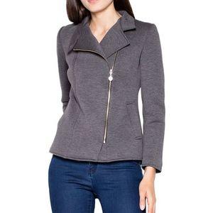 šedá krátka bunda vt034 dark grey vyobraziť