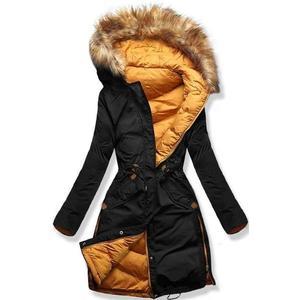 Čierno/žltá obojstranná zimná bunda vyobraziť