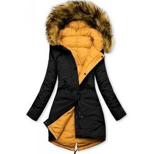 Čierno-žltá obojstranná zimná bunda vyobraziť