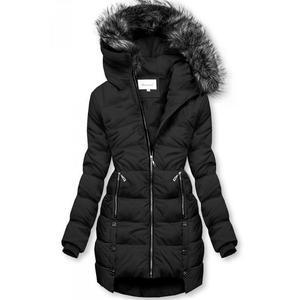 Čierna prešívaná bunda vyobraziť