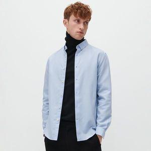 Reserved - Bavlnené tričko regular fit - Modrá vyobraziť