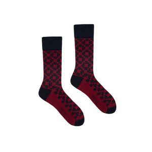 Bordovo-čierne ponožky Mosaic vyobraziť
