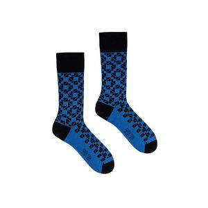 Modro-čierne ponožky Mosaic vyobraziť