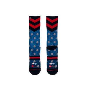 Pánske modro-červené ponožky Barney vyobraziť