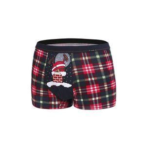 Sivo-červené boxerky Too Fat vyobraziť