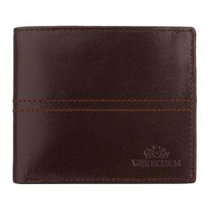 Hnedá pánska peňaženka pre pánov. vyobraziť