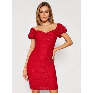 Guess Koktejlové šaty W1GK0R KAM20 Červená Slim Fit vyobraziť