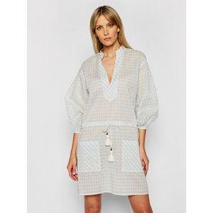 Tory Burch Plážové šaty Tunic 82129 Modrá Regular Fit vyobraziť