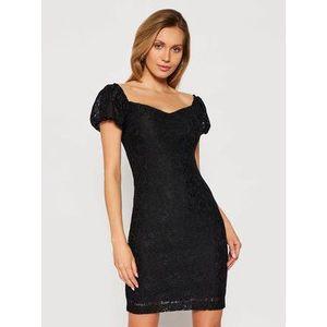 Guess Koktejlové šaty W1GK0R KAM20 Čierna Slim Fit vyobraziť