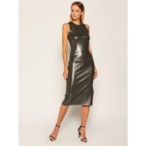 Guess Koktejlové šaty Lupita W0YK81 K9VN0 Strieborná Slim Fit vyobraziť