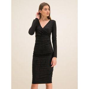 Guess Koktejlové šaty W01K0N K9HQ0 Čierna Slim Fit vyobraziť