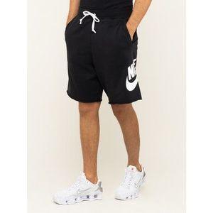 Nike Športové kraťasy Nsw French Terry Alumni Logo AR2375 Čierna Loose Fit vyobraziť