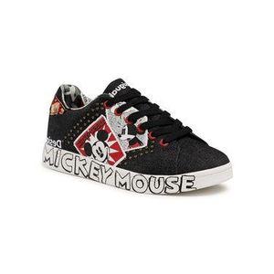 Desigual Sneakersy Mickey Denim 21SSKA15 Čierna vyobraziť