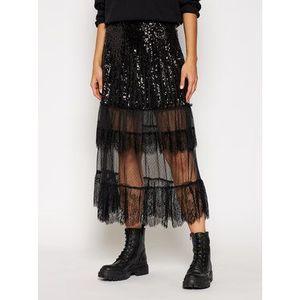 TwinSet Midi sukňa 202TT2252 Čierna Regular Fit vyobraziť