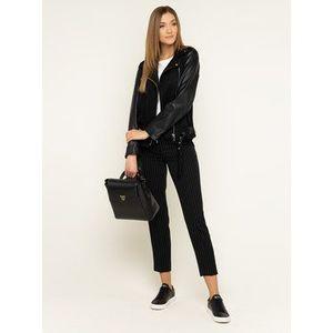 DKNY Bavlnené nohavice P9EKRAWP Čierna Regular Fit vyobraziť