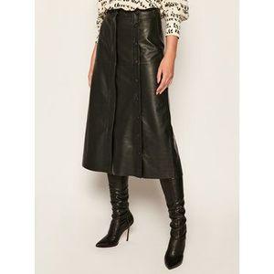 Sportmax Code Kožená sukňa Gerusia 74060106 Čierna Regular Fit vyobraziť