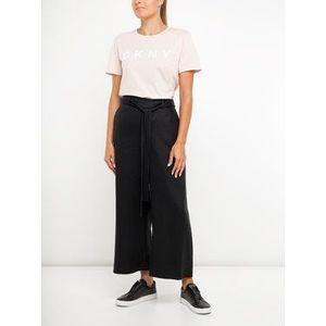 DKNY Culottes nohavice P9AKCACY Čierna Oversize vyobraziť