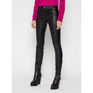 KARL LAGERFELD Kožené nohavice Metallic 210W1103 Čierna Skinny Fit vyobraziť
